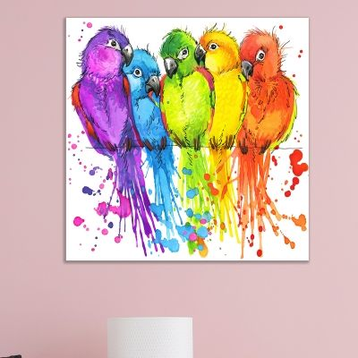 0720 Wall art decoration Parrots