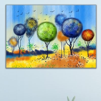 0727 Wall art decoration Abstract trees