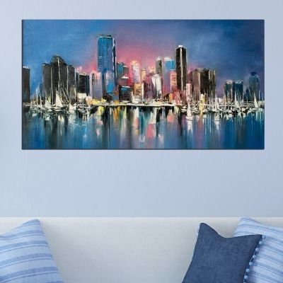 0734 Wall art decoration Abstract city
