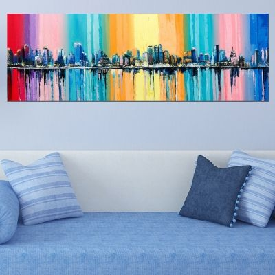 0740  Wall art decoration Abstract colorful city