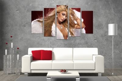 Wall art decoration with angel-woman with wings