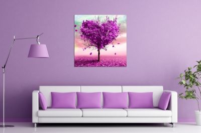 Wall art decoration for teenage room Abstract love tree