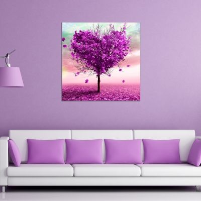 Abstract love tree canvas wall art decoration