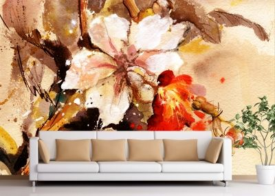 T0131 Wallpaper Art flowers