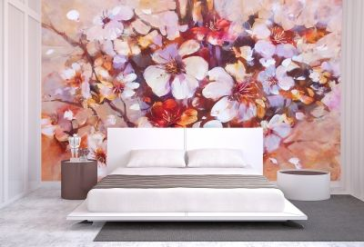T0298 Wallpaper Almonds blossom