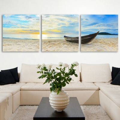 0039_1 Wall art decoration (set of 3 pieces) Boat
