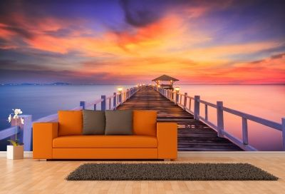 T0559 Wallpaper Sea landscape with pier