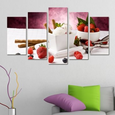 0028 Wall art decoration (set of 5 pieces)  Sweet temptation