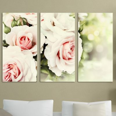 0033 Wall art decoration (set of 3 pieces) Pure beauty