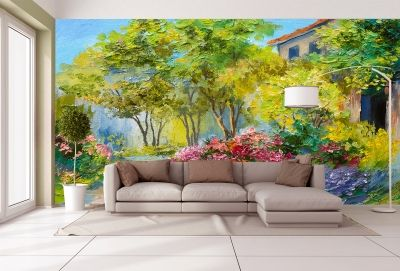 T9041 Wallpaper Art colorful landscape