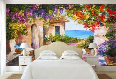 T9042 Wallpaper Art summer sea landscape