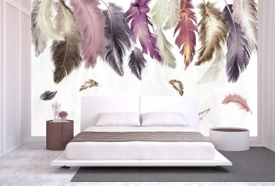 T9053 Wallpaper Feathers