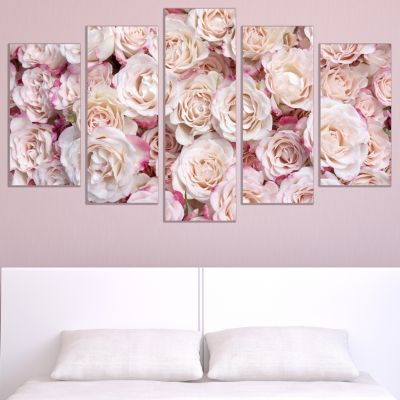 9007 Wall art decoration (set of 5 pieces) Roses