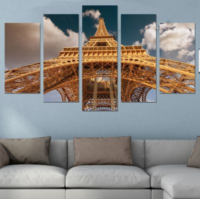 9001 Wall art decoration (set of 5 pieces) Eiffel Tower