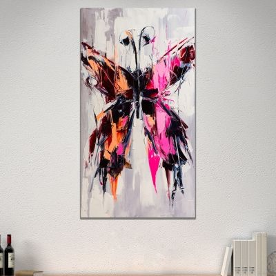 0724_1 Wall art decoration Colorful butterfly