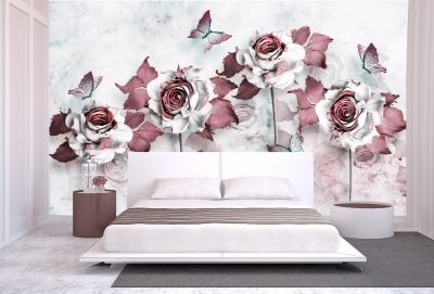 T9059 Wallpaper 3D Abstract roses