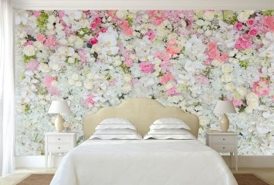 T9064 Wallpaper Wall of flowers