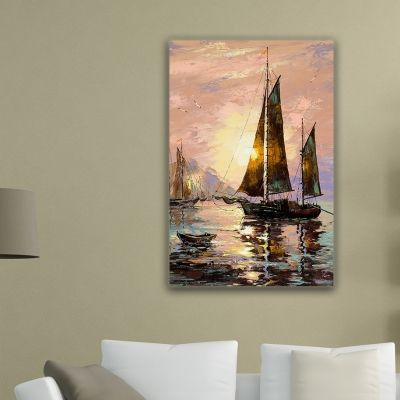 0001 Wall art decoration - Sailing boat