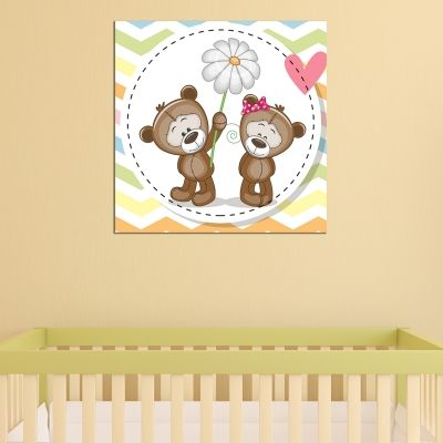 0757 Wall art decoration Bears