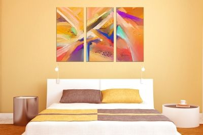 0761 Wall art decoration (set of 3 pieces) Colorful abstraction