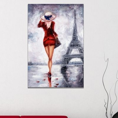 0762 Wall art decoration Girl in Paris