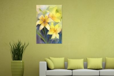 0767 Wall art decoration Yellow flowers