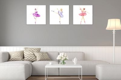canvas set 3 pieces Ballet