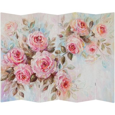 P9060 Decorative Screen Room divider Vintage roses (3,4,5 or 6 panels)