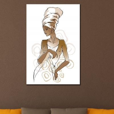 0779 Wall art decoration African woman