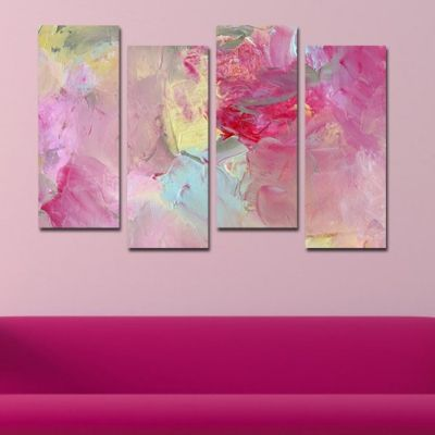 0135 Wall art decoration (set of 4 pieces) Color magic
