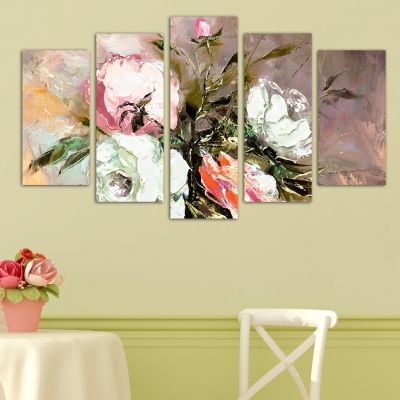 0005 Wall art decoration (set of 5 pieces) Art roses