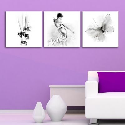 0167 Wall art decoration (set of 3 pieces) Style