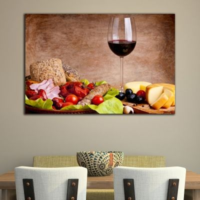 0188 Wall art decoration Composition with wine