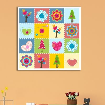 0190  Colorful wall art decoration for kids