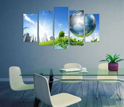 Decoration with eco planet  for office