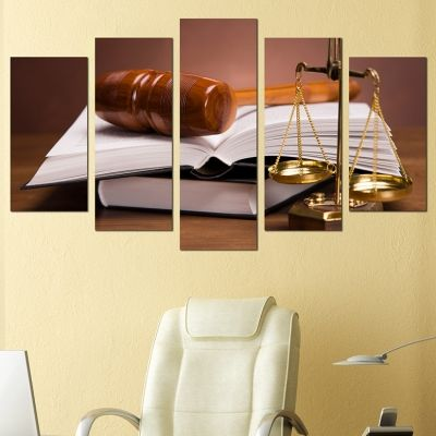 0221 Wall art decoration (set of 5 pieces) Law