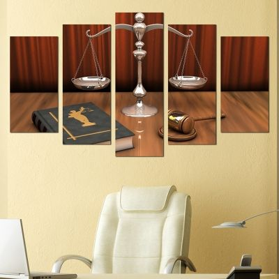 0223 Wall art decoration (set of 5 pieces) Law