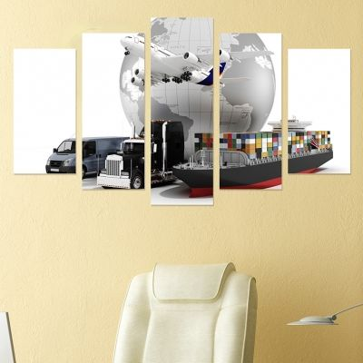 0235 Wall art decoration (set of 5 pieces) Transport